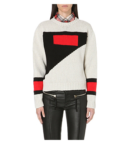 DIESEL Meste colour-blocked jumper (Cream