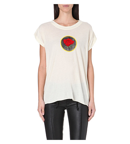 DIESEL Talew rose-print t-shirt (White