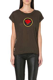 DIESEL Talew rose-print t-shirt