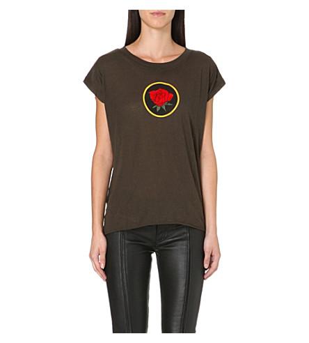 DIESEL Talew rose-print t-shirt (Khaki