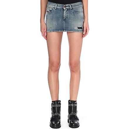 DIESEL Distressed denim skirt (Denim