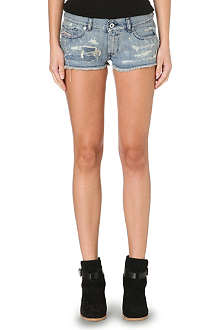 DIESEL Distressed denim shorts