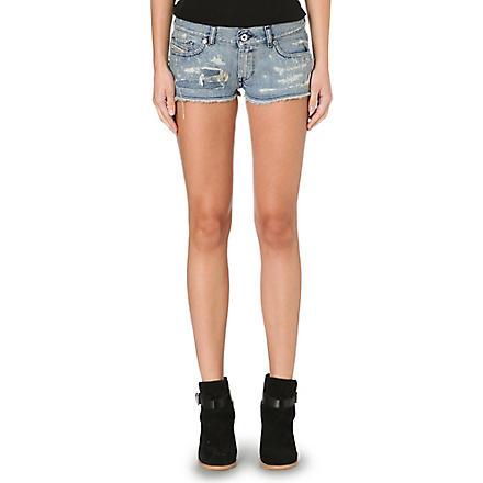 DIESEL Distressed denim shorts (Denim