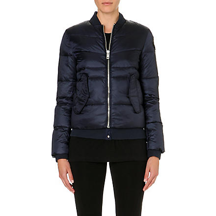 DIESEL Quilted bomber jacket (Navy