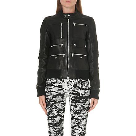 DIESEL Larty leather jacket (Black