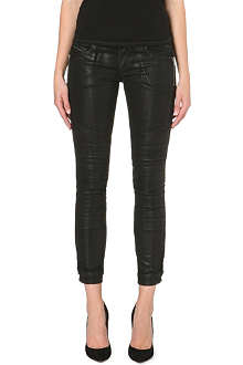 DIESEL Coated slim low-rise jeans