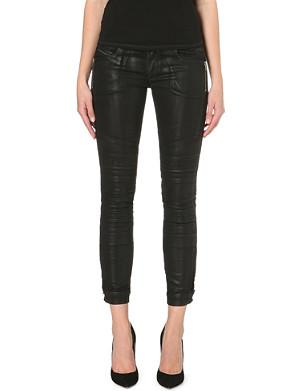 DIESEL Coated slim low-rise jeans