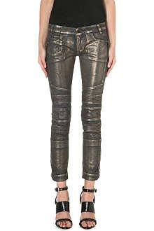 DIESEL Moto coated skinny mid-rise jeans