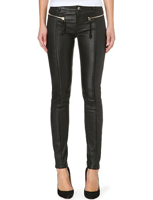 DIESEL Lgoidy zip-detail leather trousers