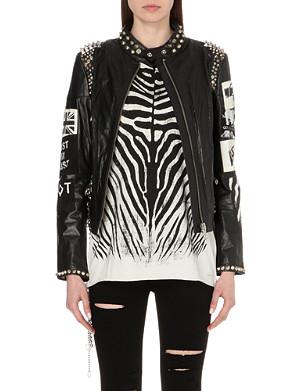 DIESEL Studded leather jacket