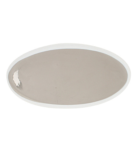 CANVAS HOME Dauville platinum-toned large porcelain platter