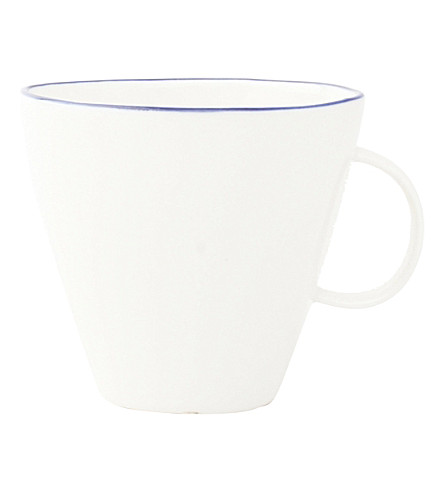 CANVAS HOME Abbesses blue-rim porcelain tea cup