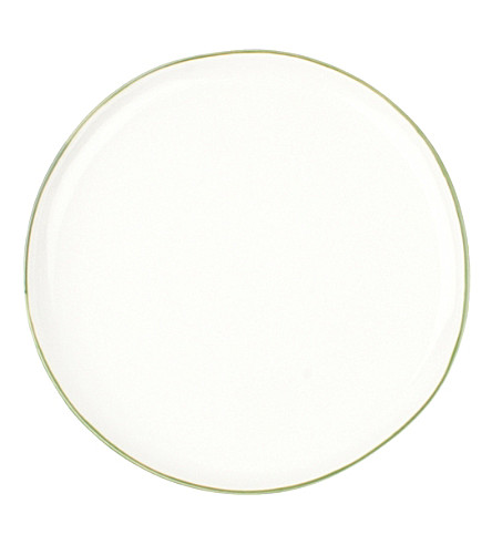CANVAS HOME Abbesses green-rim porcelain plate 21cm