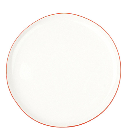 CANVAS HOME Abbesses red-rim porcelain plate 21cm