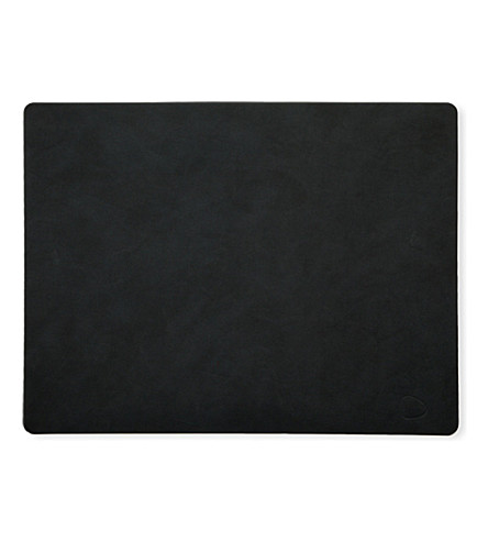 LIND DNA Square leather tablemat
