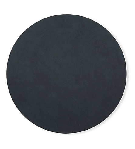 LIND DNA Circle leather table mat