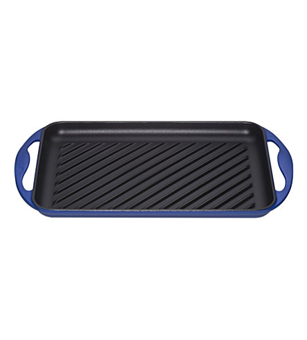 LE CREUSET Cast-iron rectangular grill (Marseille+blue