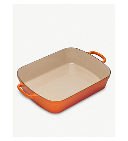 LE CREUSET 33cm enamelled cast iron roasting tray