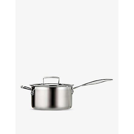 LE CREUSET 3-ply Stainless Steel saucepan with lid 20cm
