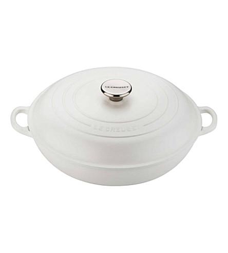 LE CREUSET Cast iron shallow casserole dish 30cm