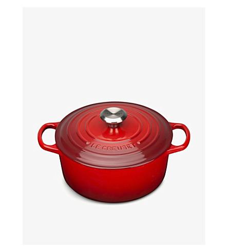 LE CREUSET Cast iron round casserole dish 24cm