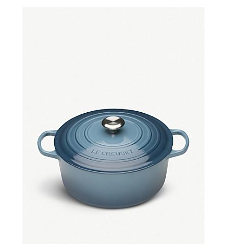 LE CREUSET Round iron casserole dish 28cm (Marine
