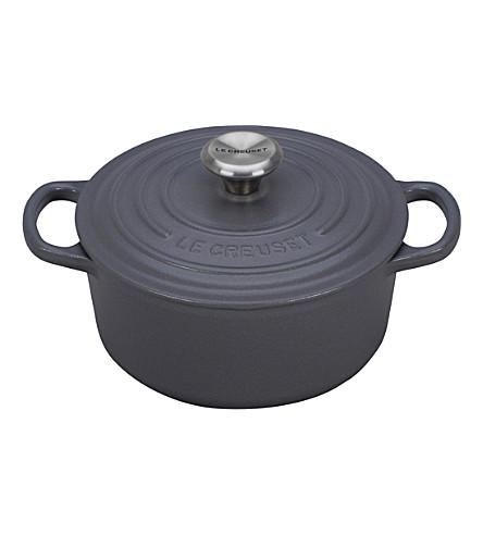 LE CREUSET Cashmere round cast iron casserole dish 18cm