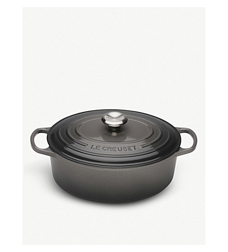 LE CREUSET Signature cast iron oval casserole dish 27cm