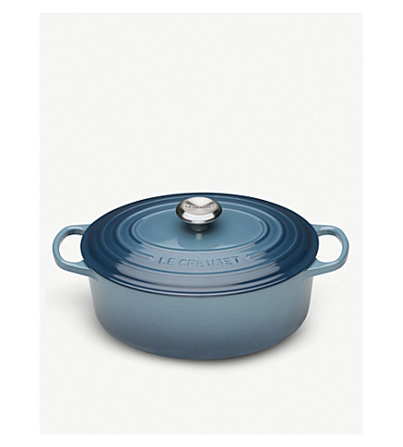 LE CREUSET Oval iron casserole dish (Marine