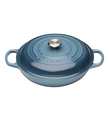 LE CREUSET Shallow iron casserole dish 30cm (Marine