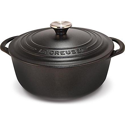LE CREUSET Cast iron casserole dish - satin black 18cm