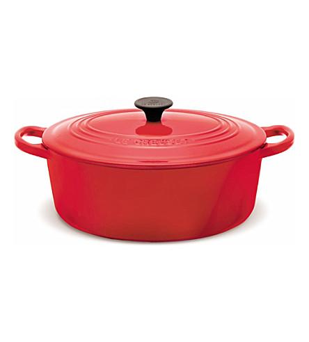 LE CREUSET Cast iron oval casserole dish 25cm