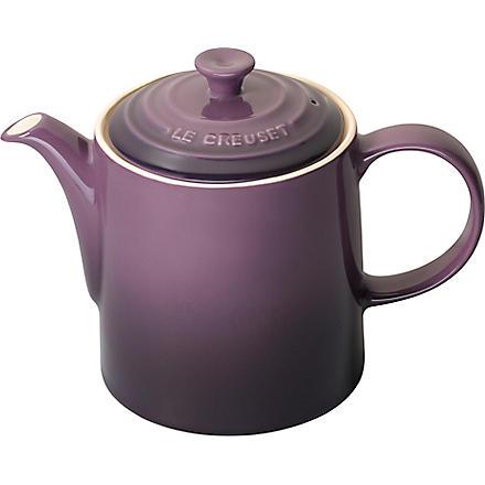 LE CREUSET Grand stoneware teapot (Cassis