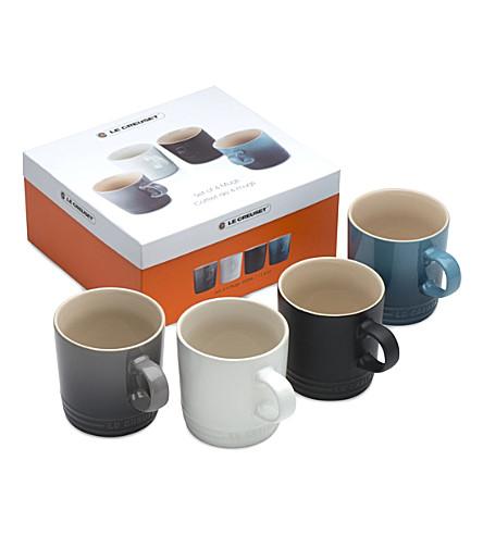 LE CREUSET Set of 4 ceramic mugs
