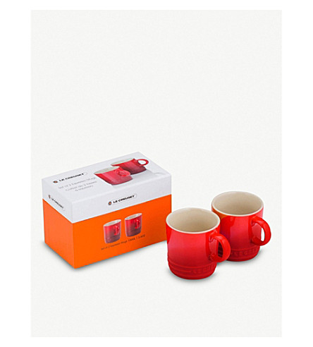LE CREUSET Set of two espresso mugs