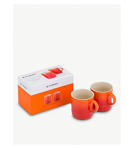 LE CREUSET Le Creuset set of two espresso mugs