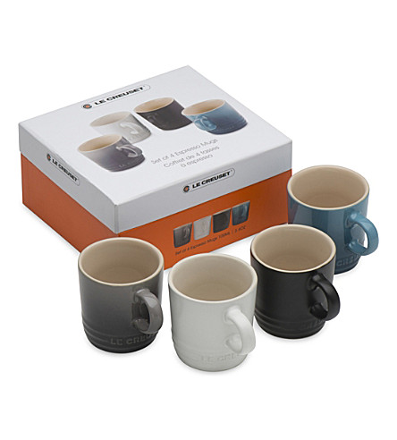LE CREUSET Set of 4 ceramic espresso mugs (Marine