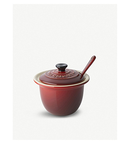 LE CREUSET Condiment pot and spoon
