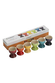 LE CREUSET Set of six rainbow egg cups