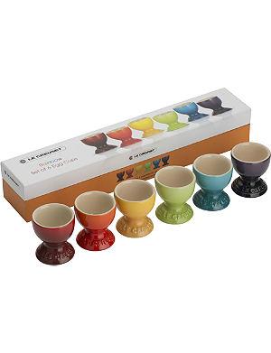 LE CREUSET Set of six rainbow egg cups