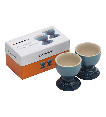 LE CREUSET Set of 2 stoneware egg cups (Marine