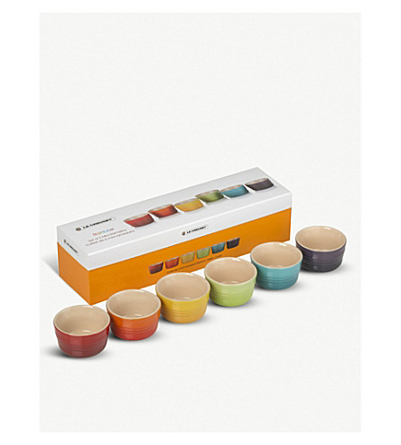 LE CREUSET Rainbow mini ramekins set of six