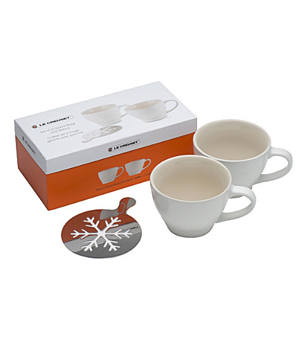 LE CREUSET Set of 2 ceramic grand mugs (White