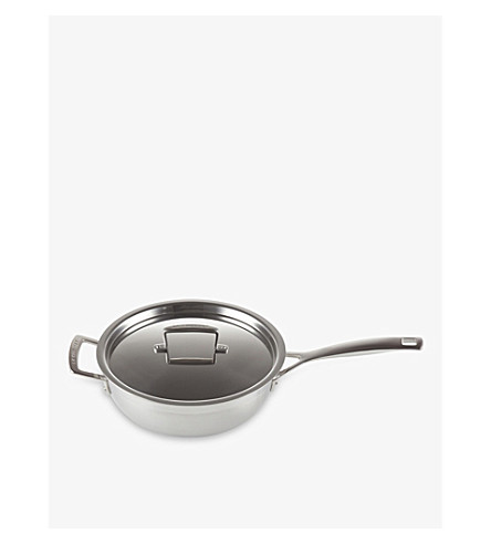 LE CREUSET 3 Ply stainless steel and aluminium Chef's pan
