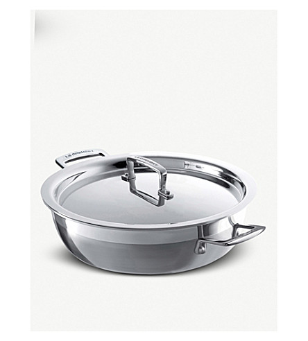 LE CREUSET 3-ply stainless steel shallow braiser 26cm