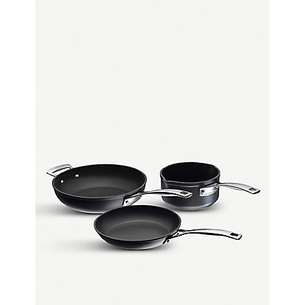 LE CREUSET 3 piece cookware set