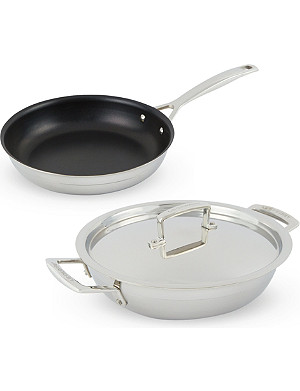 LE CREUSET 3-ply stainless steel cookware set