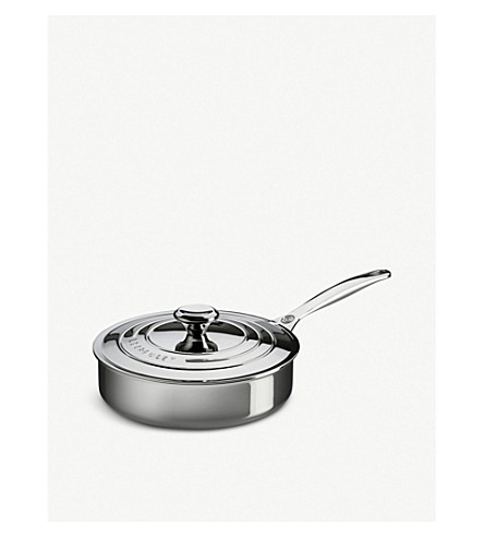 LE CREUSET Stainless steel Sauté Pan with Lid 24cm