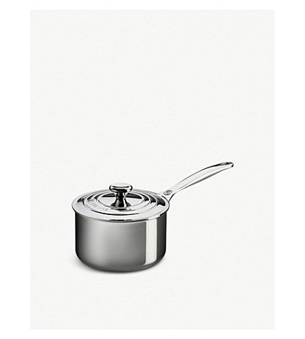 LE CREUSET Non-stick stainless steel saucepan with lid 16cm