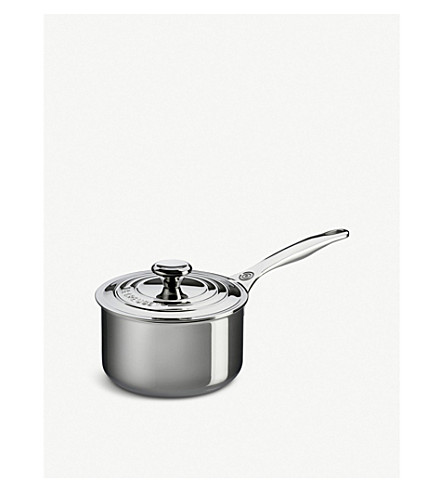 LE CREUSET Non-stick stainless steel saucepan with lid 18cm
